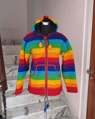 Woolen Rainbow Jacket
