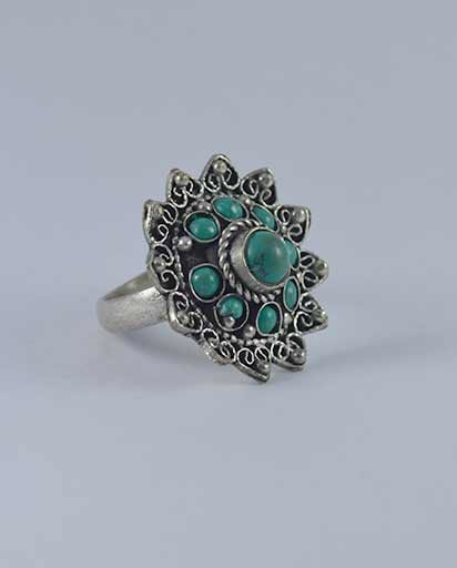 Nepalese Ethnic Hand Carved Metal Rings
