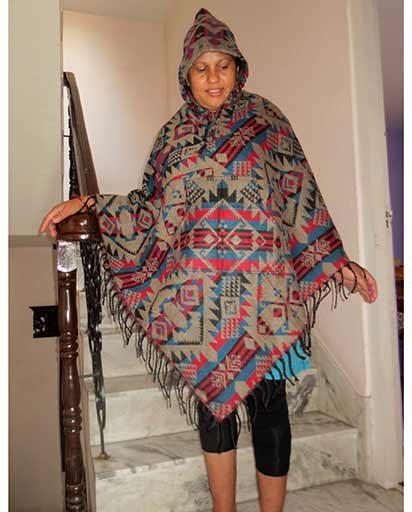 Warm Printed Winter Ponchos