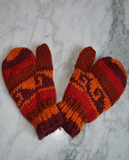 Children's Woolen Hand Knit Mittens