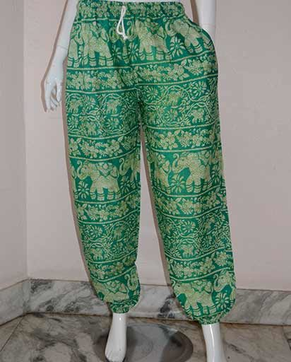 Elephant Print Loose Pants