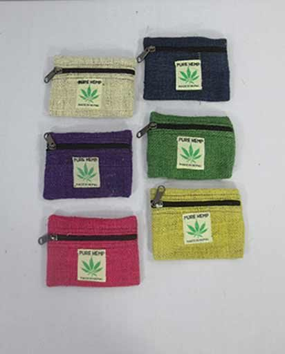 Small Hemp Coin Purses