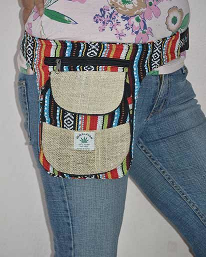 Nepalese Hemp Cotton Belt Bags
