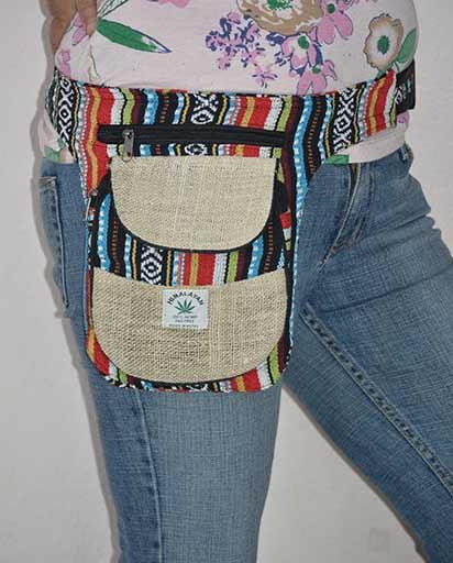 Nepalese Hemp Cotton Belt Bags