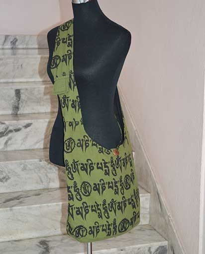 Tibetan Letter Print Bag