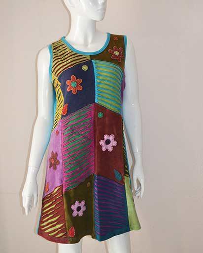 Kathmandu Ribbed Patch Dress