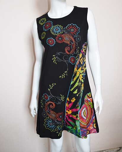 Nepalese Embroidered Cotton Dress