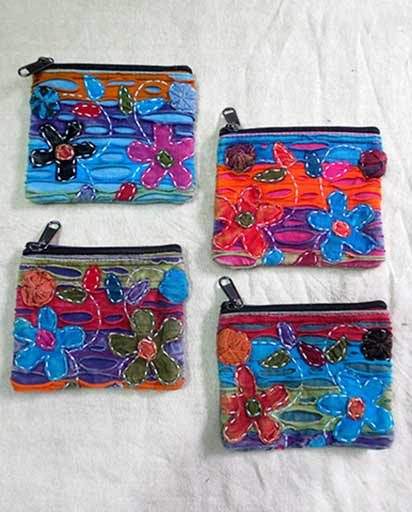 Nepalese Handmade Cotton Coin Purses