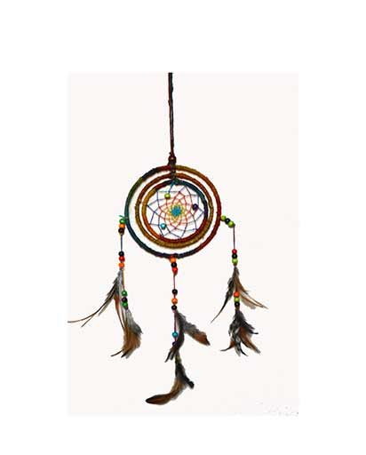 Three Ring Hemp Dream Catcher
