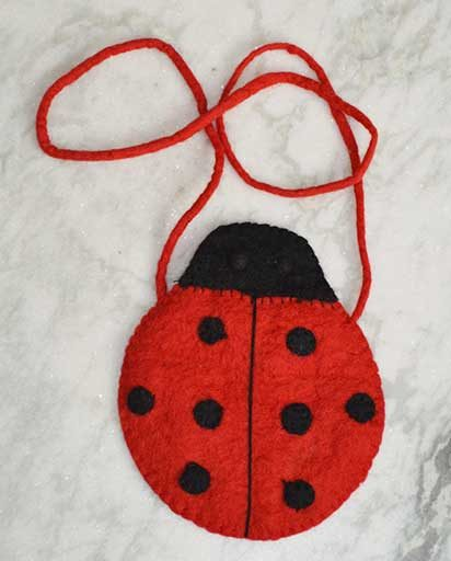 Children's Felt Lady Bird Bag
