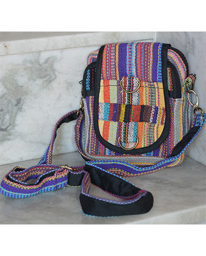 Gheri Cotton Mini Crossbody Bags