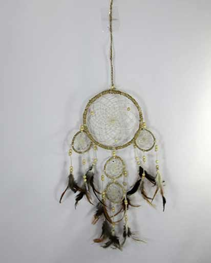 Three Small Rings Hemp Dream Catcher