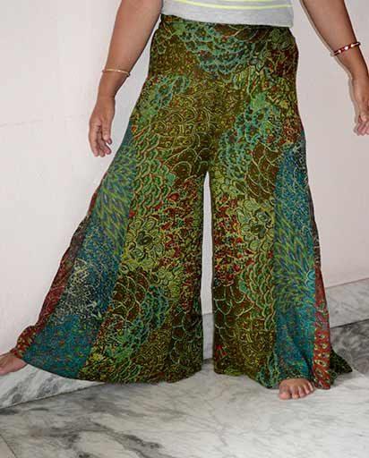 Wide Leg Bohemian Trousers