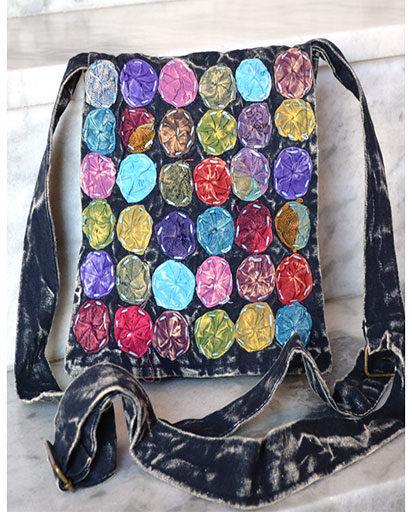 Tiny Cloth Flowers Cotton Bag