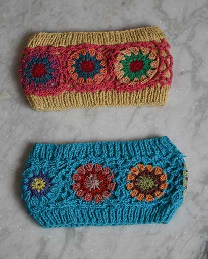 Crochet Patch Cotton Headbands