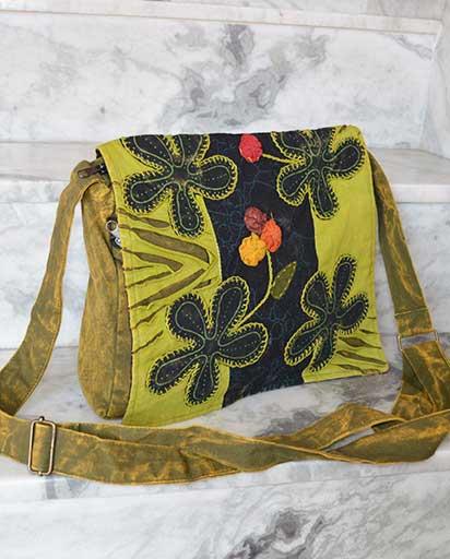 Four Patch Flowers Cotton Bag
