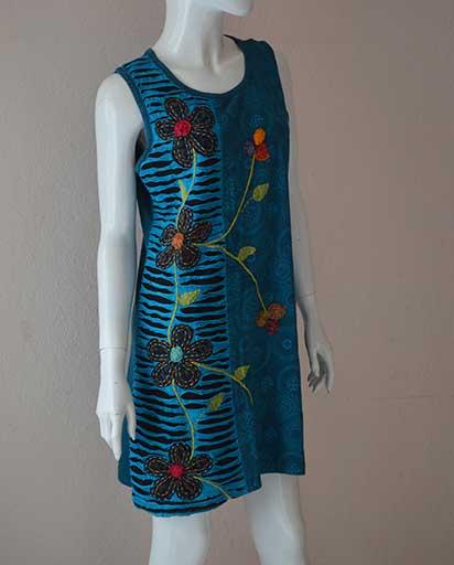 Four Flower Boho Hippie Dress
