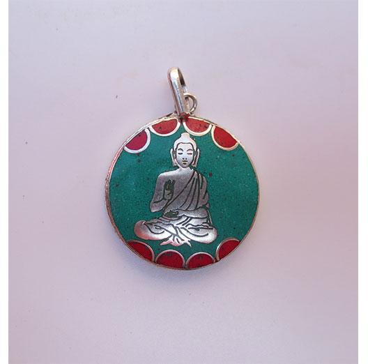 White Metal Buddha Pendent