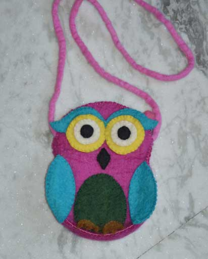Childrens Felt Owl Bags