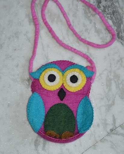 Childrens Felt Owl Bags