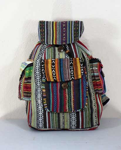 Many Patches Cotton Rucksack