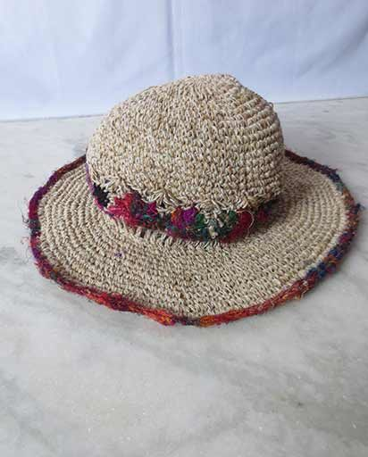 Recycled Silk Flower Hemp Hats