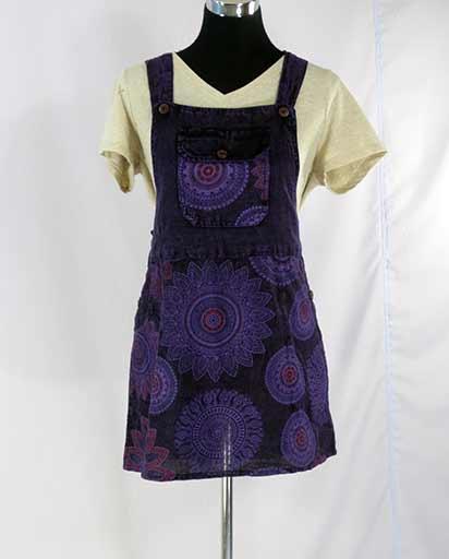 Enzyme Wash Short Cotton Dress