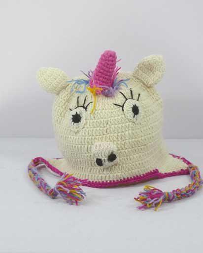 Woolen Crocheted Unicorn Hats