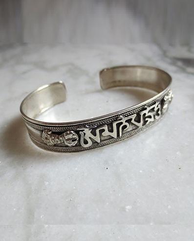 Tibetan White Metal Bracelets