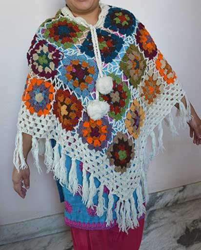 Woolen Patch Ponchos