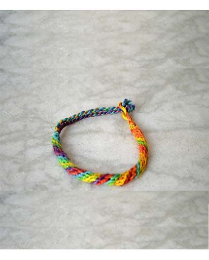 Rainbow Hemp & Cotton Bracelet