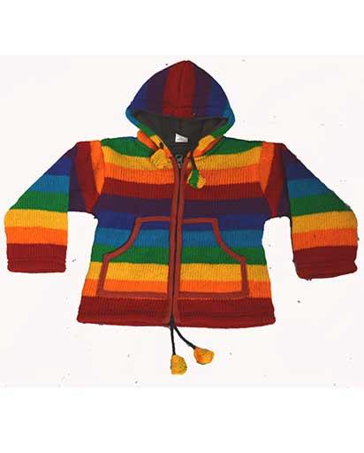Children's Woolen Rainbow Jackets