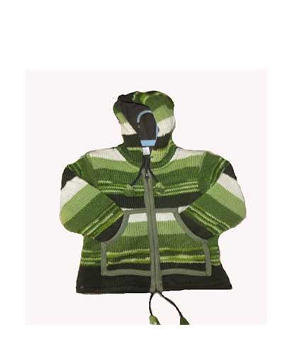 Children's Woolen Hoodie Jackets