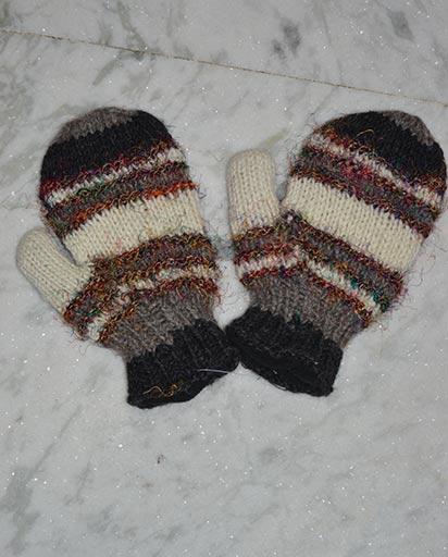Recycled Silk Woolen Mittens