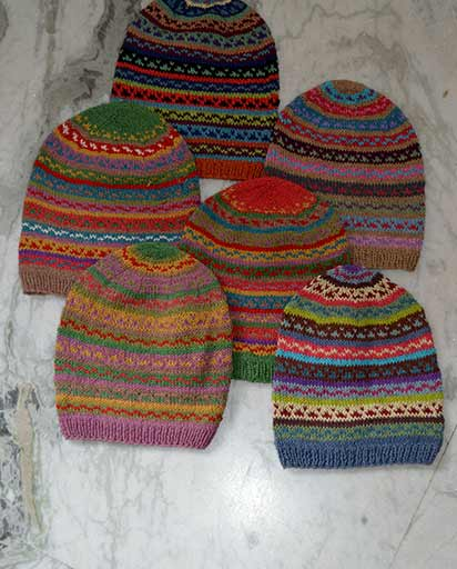 Multicolor Crochet Cotton Yarn Hats