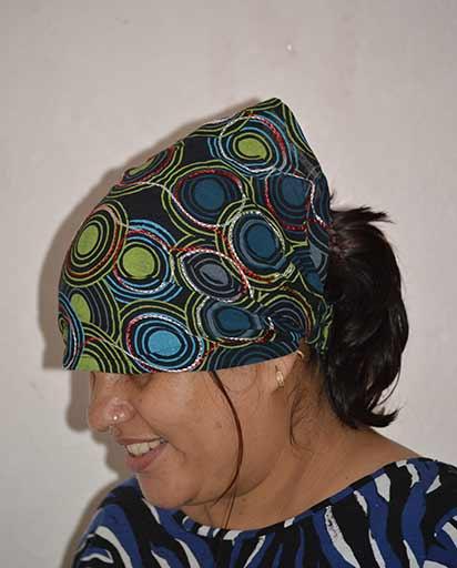 Nepal Fairly Traded Ethnic Ethical Boho New Cotton Head Hair Band Wrap