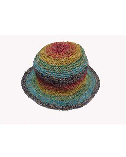 f57a3e324fa423 Rainbow Hemp & Cotton Hats   Himalayan Exports