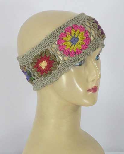 Cotton Yarn Crochet Headband