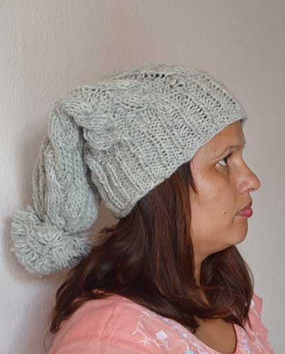 b6a0e31368204 Cable Pom Pom Woolen Hats