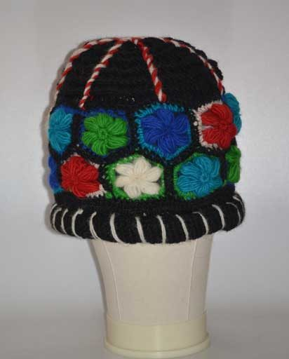Crochet Flower Woolen Hat
