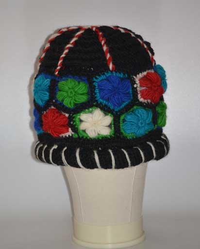 Crochet Flower Woolen Hat