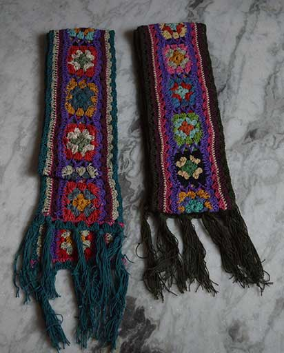 Multi Color Crochet Scarves