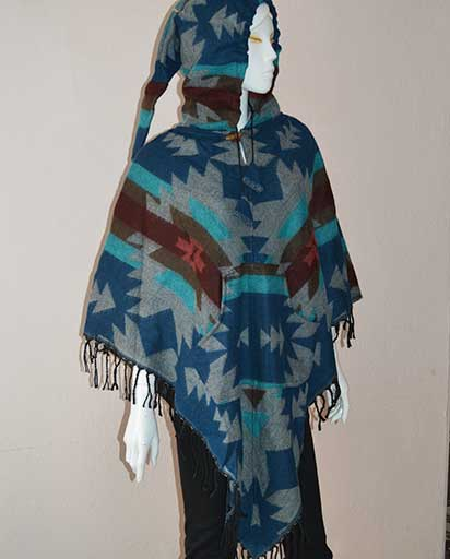 Long Hood Acrylic Winter Ponchos
