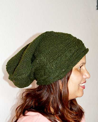 Woolen Cable Slouch Hats