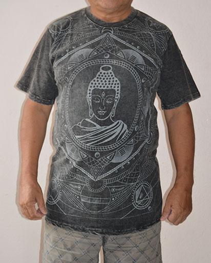 Stonewashed Buddha Cotton Tee Shirts