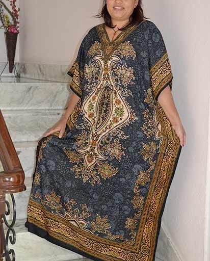 Loose Kaftan Maxi Dress