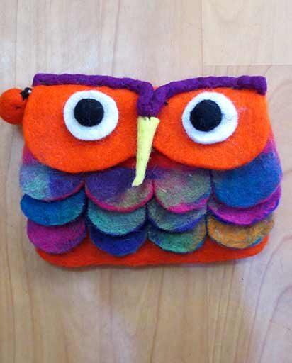 Owl Felt Purse