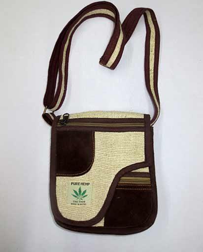 Suede Patch Hemp Bags