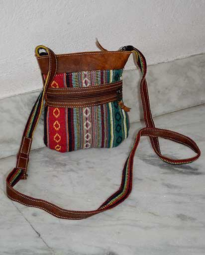Mini Leather Cotton Sling Bags