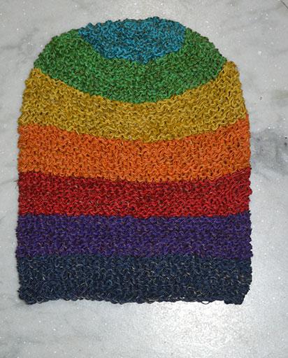 Rainbow Crochet Hemp Hats